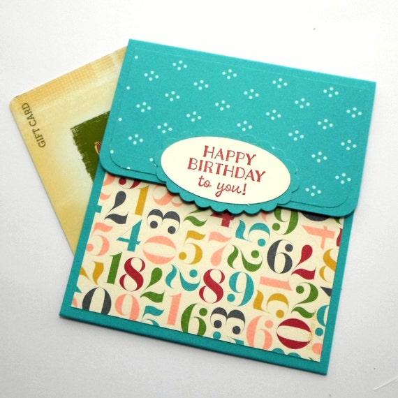 Birthday Gift Card Holder Happy Birthday Money Card Hand