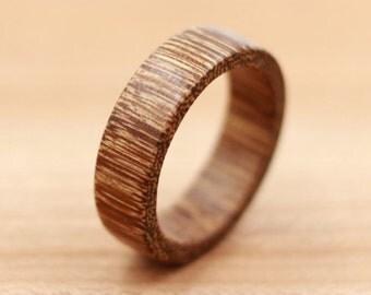 Brownheart Wood Ring - Custom Wood Ring - Unique Wedding Ring - Wedding Ring - Wooden Ring - Mens Jewelry - 5 Year Anniversary