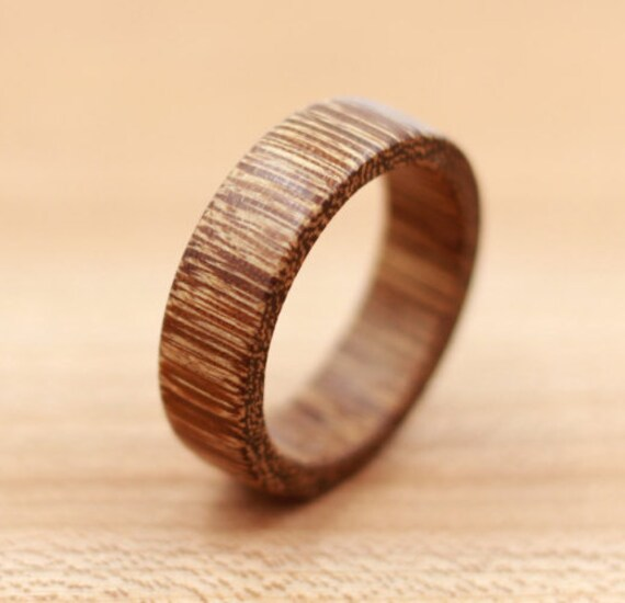 Brownheart Wood Ring Custom Wood Ring Unique Wedding Ring