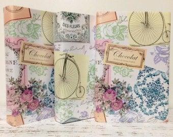 Decorative Books, Bridal Shower, Pastel Party, Paper Wrap, PER BOOK, 1st Photo is PAPER choice, Tea Party Theme, English Garden Wedding
