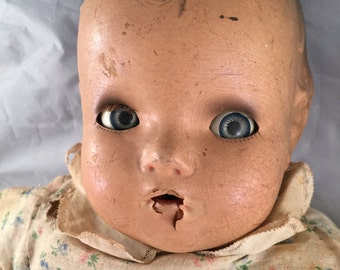 Vintage Horsman Composition Baby Doll with Sleepy Eyes