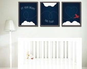 50% OFF Regular Price. Let Your Dreams Take Flight Collection, Nursery decor, Baby's room, Playroom wall prints, Different Sizes Available