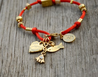 Four Names Kabbalah Red String Bracelet