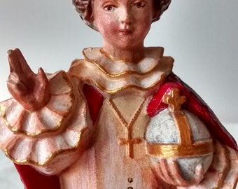 Infant Jesus of Prague Kitsch Hand Painted Resin Figure Beautifully Detailed