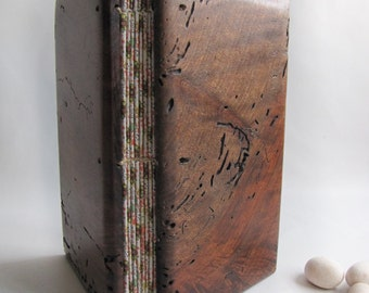Wooden blank book Antique Upcycled