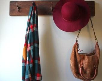 Reclaimed Barn Lumber Coat Rack Rustic Hooks