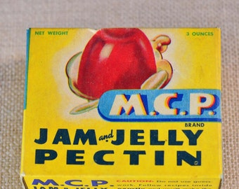 MCP Jam and Jelly Pectin - Mutual Citrus Products Co. - Unopened Box - Vintage Advertising - Kitchen Decor - Retro Kitchen - New Old Stock