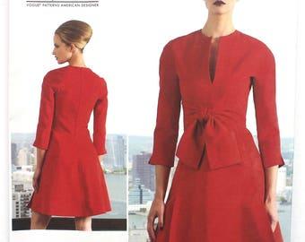 UNCUT CHADO Ralph Rucci Vogue American Designer V1317 Dress Pattern
