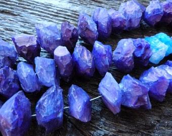 rough chalcedony beads, purple chalcedony beads, purple chalcedony rondelles, raw agate beads