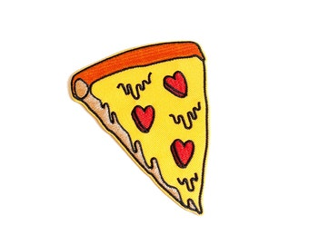 pizza my heart patch | Iron on embroidered patch