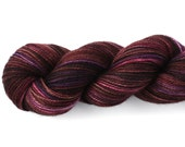 Sugar Plum--hand dyed sock weight yarn, 2 ply merino, cashmere, nylon (400yds/100gm)