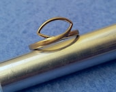 Vintage Espo Esposito Brushed Gold Ring 14KT GE size 8.25 gold plated