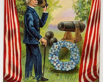 Decoration Day Postcard - Patriotic - Memorial Day Postcard