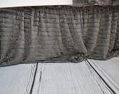 Gray Crib Skirt - Ruffle Crib Skirt - Grey Crib Skirt - Baby Bed Skirt- Long Crib Skirt - Ruffled Crib Skirt Baby Nursery Baby Room Decor