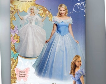 Misses Sewing Pattern Simplicity 1026 Halloween Costume Cinderella Fairy Godmother Disney Ballgown Size 6-14 and 14-22 UNCUT