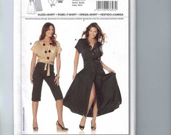 Misses Sewing Pattern Burda 7697 Misses Easy Shirt and Dress Kimono Style Size 10 12 14 16 18 20 UNCUT