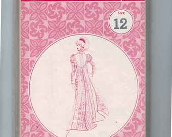 1960s Vintage Sewing Pattern Patterns Pacifica 3022 Polynesian Style Muu Maxi Dress Hawaiian Size 12 bust 34 60s UNCUT