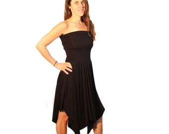 Strapless Black Dress - Converts to a Skirt!