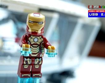 16GB to 64GB USB Stick in a original complete Lego® Figure Eccentric Superhero