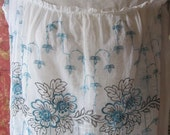 RESERVED Lay-A-Way For Maggie Vintage 1920's Embroidered Day Dress - Turquoise Embroidered Flowers Vintage Costume Flapper Dress