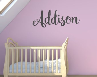 Swirly Script- Monogram - Wall Decals