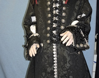 Barbossa Pirate Coat Custom made in and fabric of your choice!