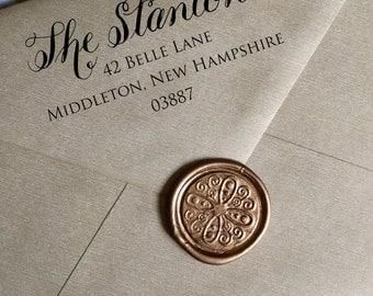 Custom Address Stamp, Calligraphy with Type Stamp, Calligraphy, Return Address Stamp, Modern Calligraphy, Handwritten