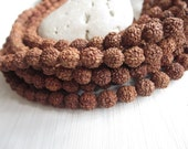 108 Small  7-8mm Rudraksha  beads,  brown red  round  exotic beads , yoga boho supplies  6CB15-1