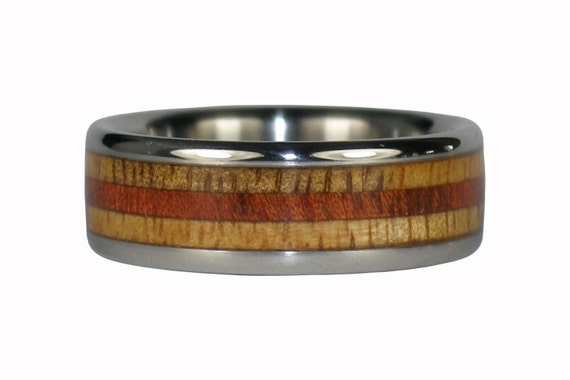 Robusta and Mango Wood Titanium Ring