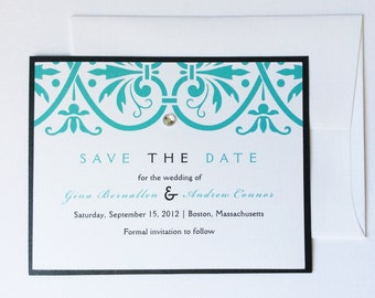 Disney Wedding Save The Date Magnet Card Mickey Disney