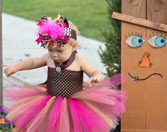Little Girl Fall Tutu Dress,Fall Crochet Tutu Dress,Autumn Colors Baby Dress,Thanksgiving Tutu and Hair Bow Set,Fall Infant Baby Tutu Dress