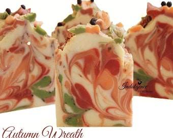SOAP-Autumn Wreath Handmade Artisan Soap/handmade soap/vegan soap/fall soap/autumn soap