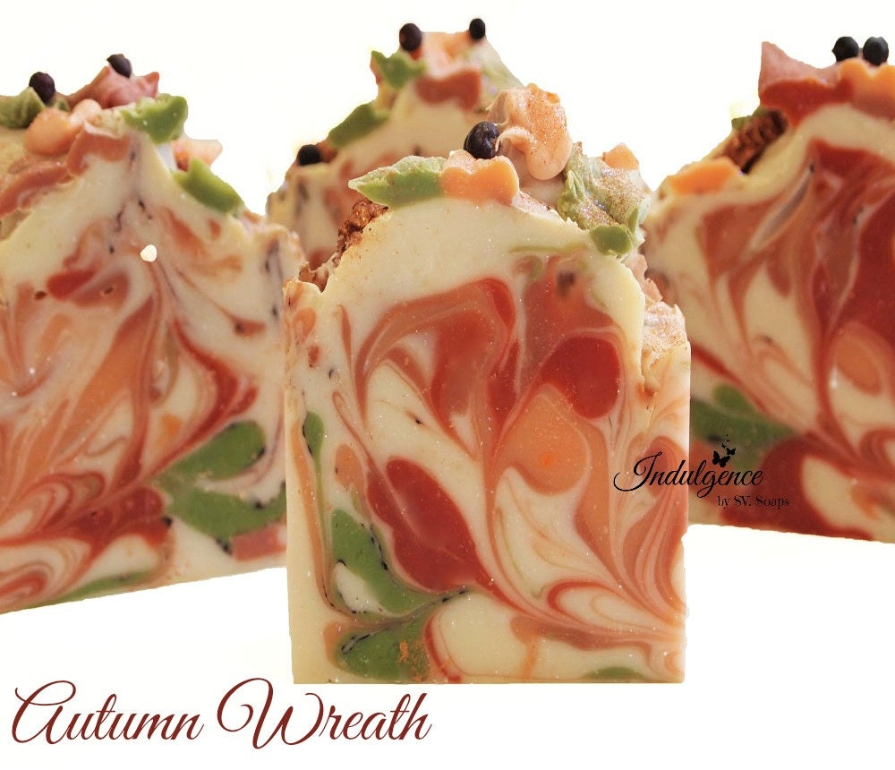Soap autumn wreath handmade artisan soap handmade by svsoaps for Fall soap scents