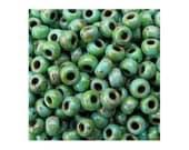 Miyuki Seed Bead 8/0 Picasso Seafoam 8-4514 22g, Green Japanese Seed Bead, Size 8 Seed Beads, Glass Seed Beads, 3mm Seed Bead