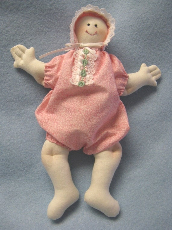 Mailed Cloth Doll Pattern 10 inch Baby Doll (very easy)