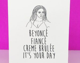 Birthday card Beyoncé, any occasion, anniversary, wedding, funny