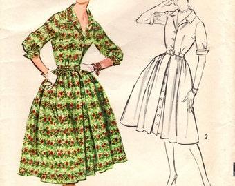 1950s Advance 8764 Vintage Sewing Pattern Misses Dress Size 16 Bust 36