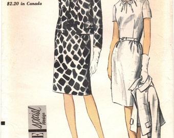 1960s Vogue 7107 Special Design UNCUT Vintage Sewing Pattern Misses Dress and Jacket Size 18 Bust 38