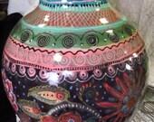 Fabulous Large Vase, Brilliant Color