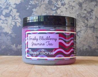 Smoky Blackberry Jasmine Tea Sugar Scrub - 8 oz - Limited Edition Fall & Holiday Scent