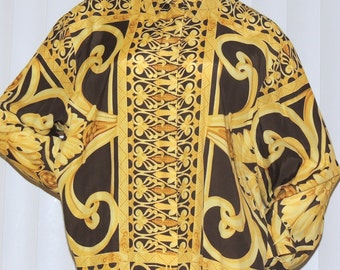 MONDI Germany Gold/Moca Fabulous Print Blouse L to XL