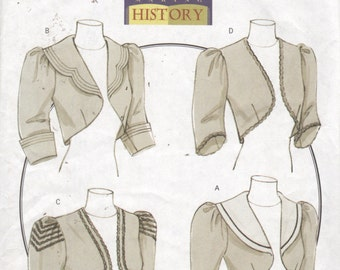 Butterick 5232 Misses Victorian Jacket Pattern Historical Costume Making History Womens Sewing Size 6 8 10 Bust 30 31 32 34 UNCUT
