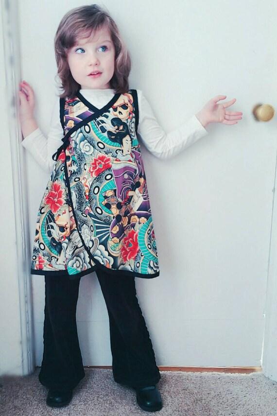 Geisha Kimono Purple Baby Dress Punk Rock Dress Kimono