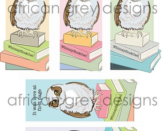 Reserved - Whimsy Owl Bookmarks - Eco-friendly Set of 10