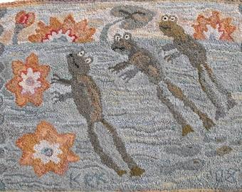 Waterlilies rug hooking patterns