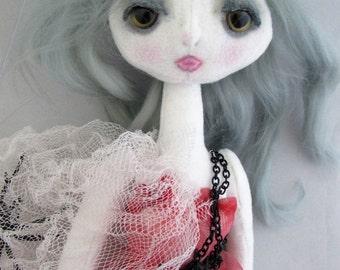 GHOST, the original Kaerie Faerie soft sculpture art doll, handmade in the USA
