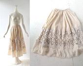 Vintage 1920s Skirt / L'Atlantide / Silk Skirt / 24W XXS