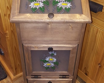 Potato Storage Bin - Daisies