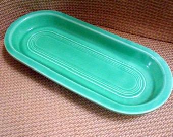 Fiestaware vintage Utility tray. Original green color 1939-1948