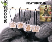 Royal Markers - Set of four Majestic Knitting Place Markers made out of recycled plastic, includes four different crown's